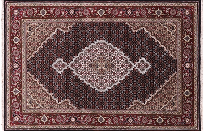 Persian Mahi Tabriz Wool & Silk Rug