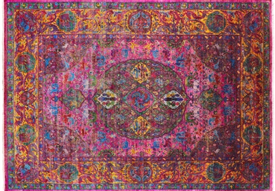 Hand Knotted Pure Silk Persian Rug