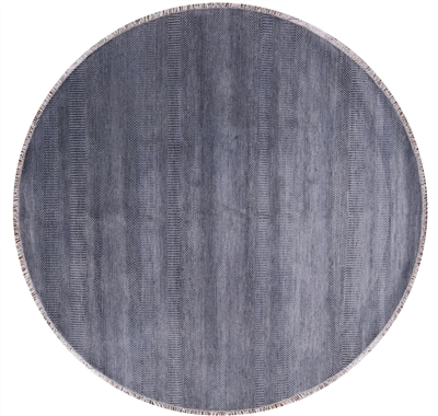 Round Savannah Grass Hand Knotted Wool & Silk Area Rug