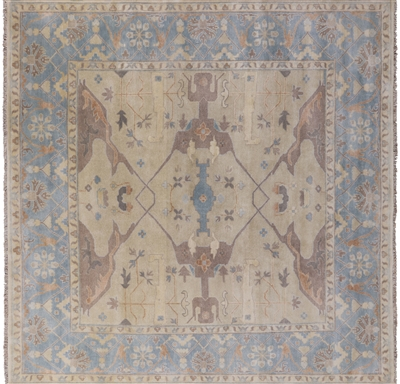 Square Oushak Hand Knotted Area Rug
