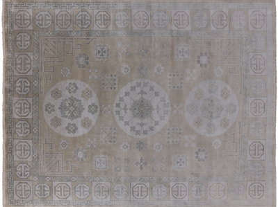 Khotan Hand Knotted Wool Oushak Wool Rug