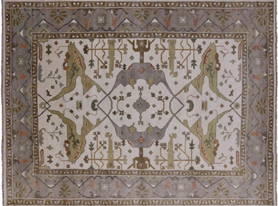 Traditional Oushak Handmade Wool Area Rug