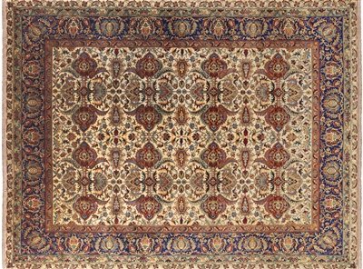 Persian Tabriz Veg Dyed Hand Knotted Wool Area Rug