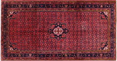 New Persian Hamadan Hand Knotted Area Rug