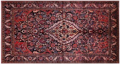 Tribal Authentic Persian Hand Knotted Nahavand Rug