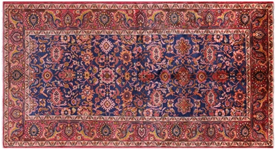 Authentic Persian Floral Nahavand Area Rug