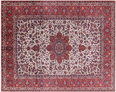 Persian Isfahan Rare Cotton Foundation Area Rug