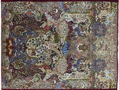 New Persian Kashmar Hand Knotted Area Rug