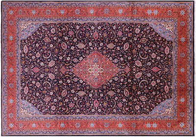 New Persian Sarouk Handmade Wool Area Rug