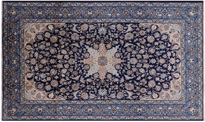 New Unique Hand Knotted Persian Isfahan Area Rug