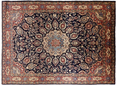 New Authentic Persian Sarouk Hand Knotted Wool Full Pile Rug