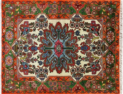 New Persian Nahavand Full Pile Wool Rug
