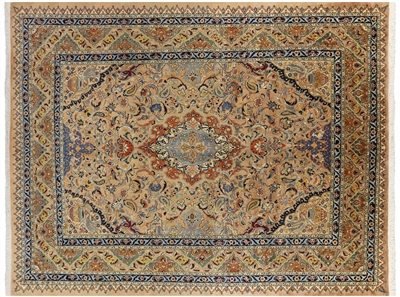 New Authentic Kashmar Persian Hand Knotted Rug