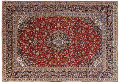 New Authentic Signed Full Pile Persian Kashan Rug