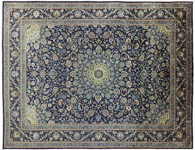 New Full Pile Wool Authentic Persian Kashmar Rug