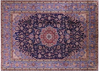 New Authentic Persian Hand Knotted Full Pile Fine Isfahan Rug