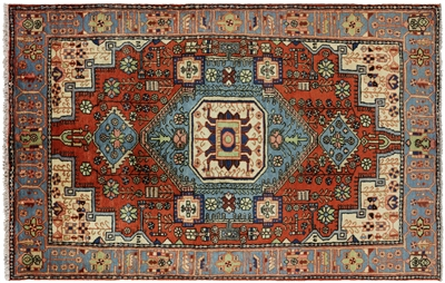 New Full Pile Persian Nahavand Area Rug