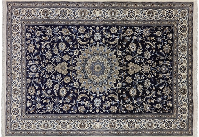 New Authentic Full Pile Persian Nain Rug