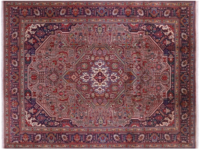 New Authentic Persian Tabriz Hand Knotted Wool Rug