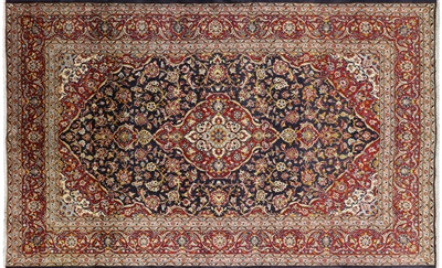 New Authentic Persian Kashan Full Pile Area Rug