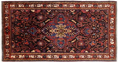 New Persian Hamadan Hand Knotted Wool Rug