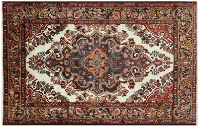 Authentic Persian Hamadan Wool Area Rug