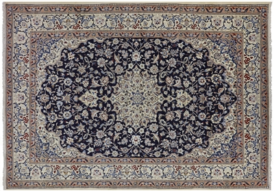 New Fine Authentic Persian Nain Full Pile Rug