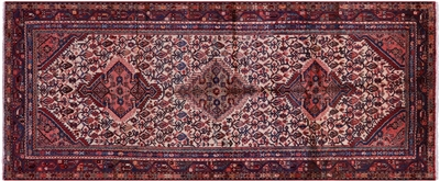 New Authentic Persian Hamadan Full Pile Wool Runner Rug