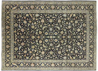New Persian Fine Kashan 300 KPSI Hand Knotted Rug