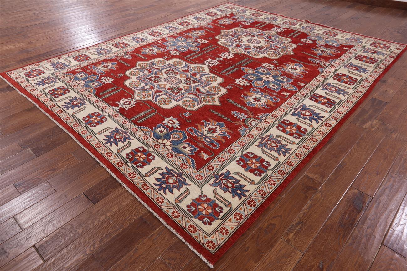 New Oriental Rug Fine Kazak 100 Wool 9 X12 Hand Knotted