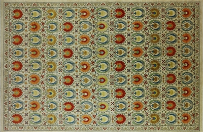 Oriental Suzani Hand Knotted Rug