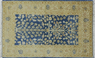 Tree of Life Design Peshawar Oriental Rug