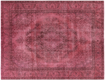 Oriental Floral Overdyed Hand Knotted Area Rug