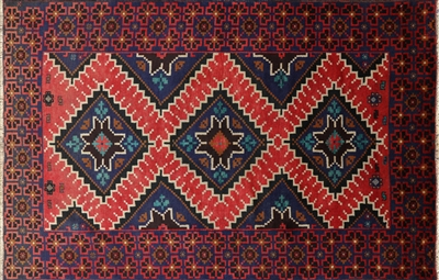 Traditional Persian Balouch Wool On Wool Area Rug