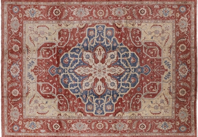 Fine Serapi Oriental Hand Knotted Peshawar Quality Rug