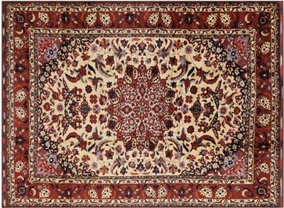 Wool on Wool Tribal Oriental Baluch Hand Knotted Rug