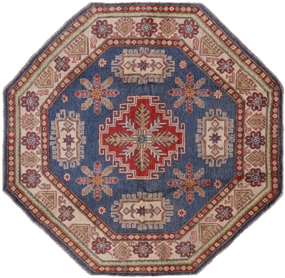 Octagon Blue Super Kazak Rug