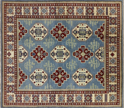 Square Hand Knotted Kazak Rug