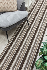 Alba Kitchen Hall Runner Mat Beige Brown