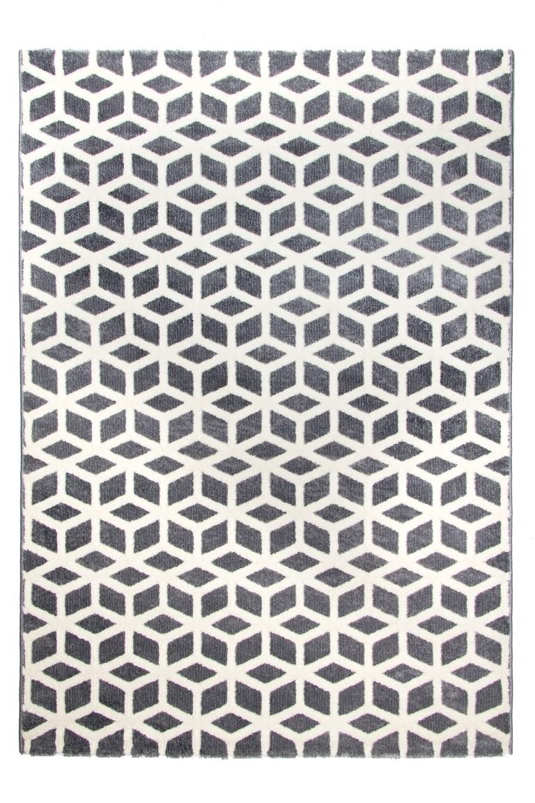 toscana cube rug  medium grey - toscana cube grey rug