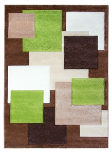 Tempo Square Rug - Brown/Beige/Green