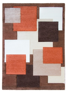 Tempo Square Rug - Brown/Beige/Terra