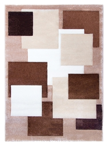 Tempo Square Rug - Brown/Beige