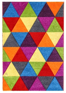 Candy Triangles Modern Rug