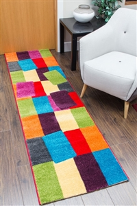 candy runner rug blocks
