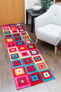 candy runner rug squares