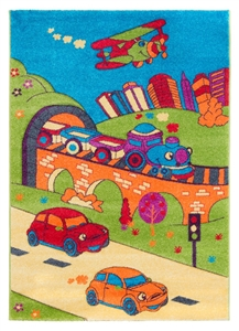Jazz-Children's-Rug-city scene