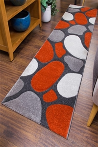 Pebbles Runner Rug Terra Gray