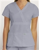 Grey's Anatomy 3 Pocket Mock Wrap Top #4153