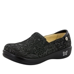 Alegria Keli Black Embossed Paisley Shoe